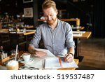 businessman taking notes and... | Shutterstock . vector #519537487