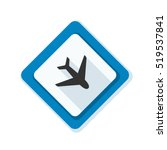 airport  plane hazard sign | Shutterstock . vector #519537841