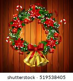 white card with christmas... | Shutterstock .eps vector #519538405