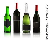 set of different drinks | Shutterstock .eps vector #519538519