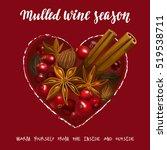 mulled wine season. decorative... | Shutterstock .eps vector #519538711
