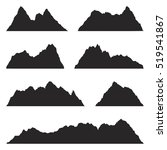 set of mountain silhouettes on... | Shutterstock .eps vector #519541867