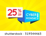 cyber monday sale sign banner... | Shutterstock .eps vector #519544465
