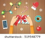 merry christmas and happy new... | Shutterstock .eps vector #519548779