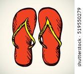 two travel swimwear scarlet... | Shutterstock .eps vector #519550279
