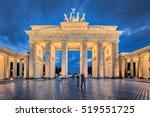 Stock photo berlin night the brandenburg gate in berlin germany 519551725