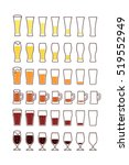 glasses of beer with bubbles ... | Shutterstock .eps vector #519552949
