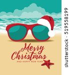 merry christmas and a happy new ... | Shutterstock . vector #519558199