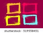 grunge frame set. vector... | Shutterstock .eps vector #519558451