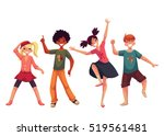 little kids dancing... | Shutterstock .eps vector #519561481
