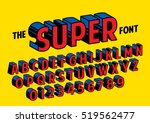 vector of stylized retro font... | Shutterstock .eps vector #519562477