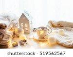 white christmas decor  warm... | Shutterstock . vector #519562567