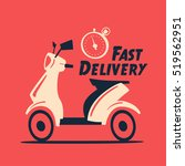fast and free delivery. vector... | Shutterstock .eps vector #519562951