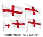 england vector flags. a set of... | Shutterstock .eps vector #519565354