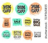set of flat design sale... | Shutterstock .eps vector #519565855