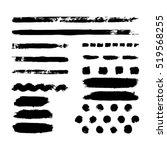 black traces from dry brush... | Shutterstock .eps vector #519568255