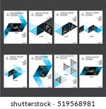 annual business report cover... | Shutterstock .eps vector #519568981