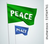 peace   vector flags. a set of... | Shutterstock .eps vector #519569761