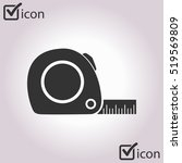 tape measure icon. roulette... | Shutterstock .eps vector #519569809