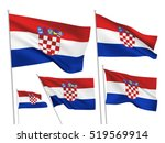 croatia vector flags set. 5... | Shutterstock .eps vector #519569914