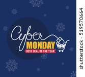 cyber monday sale background... | Shutterstock .eps vector #519570664