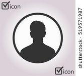 user sign icon. person symbol.... | Shutterstock .eps vector #519571987