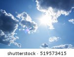 Cloud And Sun In Blue Sky