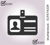 identification card icon. flat...