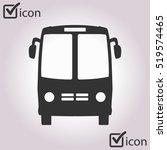bus icon. schoolbus simbol. | Shutterstock .eps vector #519574465