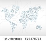 world map circuit | Shutterstock .eps vector #519575785