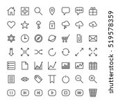 minimalistic icons for web site.