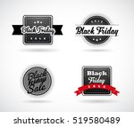 set of black friday hand made... | Shutterstock .eps vector #519580489