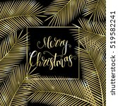 congratulation merry christmas  ... | Shutterstock .eps vector #519582241