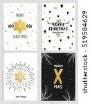trendy christmas design set.... | Shutterstock .eps vector #519584629
