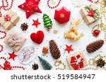 christmas and new year... | Shutterstock . vector #519584947