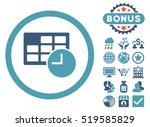 date and time icon with bonus... | Shutterstock . vector #519585829