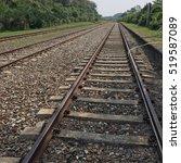 old railroad | Shutterstock . vector #519587089
