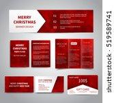 merry christmas banner  flyers  ... | Shutterstock .eps vector #519589741