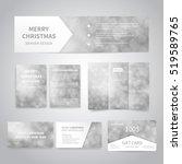 merry christmas banner  flyers  ... | Shutterstock .eps vector #519589765