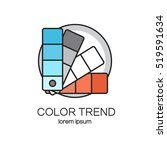 color palette guide logotype... | Shutterstock .eps vector #519591634