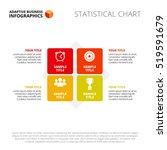 four steps process slide... | Shutterstock .eps vector #519591679