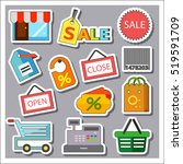 shopping icons set | Shutterstock .eps vector #519591709