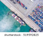container container ship in... | Shutterstock . vector #519592825