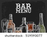 template for bar menu alcohol... | Shutterstock .eps vector #519593077