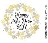 happy 2017 new year text for... | Shutterstock .eps vector #519594241