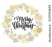 christmas ornaments and... | Shutterstock .eps vector #519594859