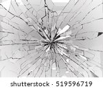 Bullet Hole And Pieces Of...