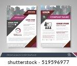 purple annual report brochure...   Shutterstock .eps vector #519596977