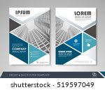 blue annual report brochure... | Shutterstock .eps vector #519597049
