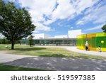 parent and child running around ... | Shutterstock . vector #519597385